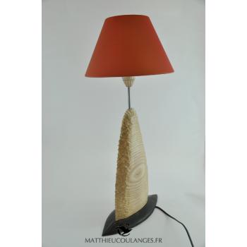 Lampe en chêne