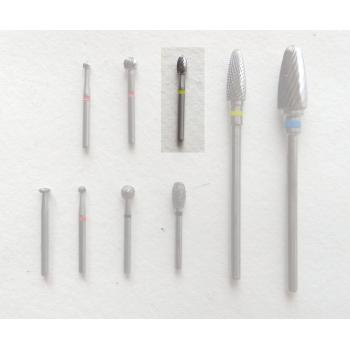 Line roulette, egg shape, tungstène carbide, 2.5mm diameter